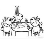 Dibujo para colorear de peppa pig y sus amigos