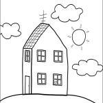 dibujo para colorear de la casita de Peppa Pig