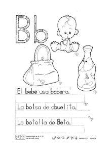 abecedario infantil letra b
