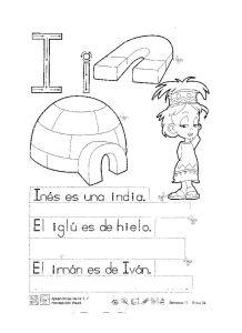 abecedario infantil letra i