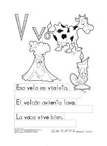 fichas para aprender a escribir letra v