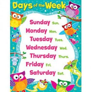 estudia los días de la semana en inglés