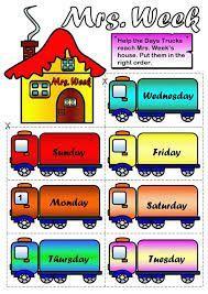 Aprender los días de la semana en inglés