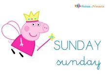 los días de la semana en inglés para niños sunday