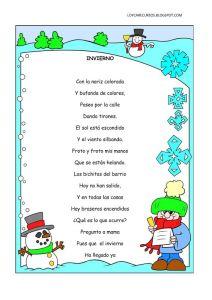 poema del invierno para niños