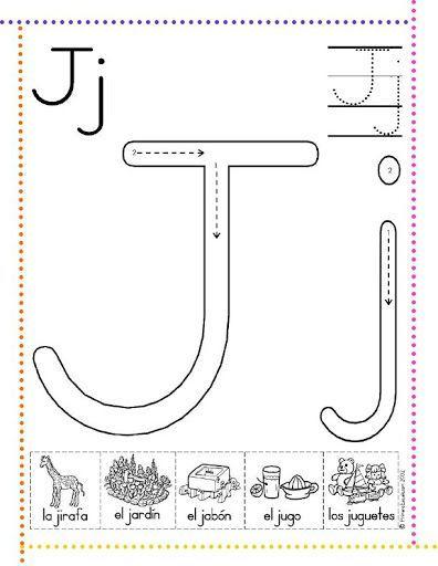 caligrafía letra j
