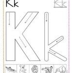 caligrafía letra k