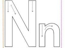 Fichas de caligrafía letra n