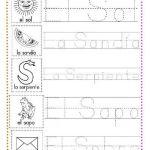 ejercicios caligrafía letra s