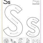 caligrafía letra s