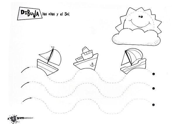 Trazos en ondas para infantil