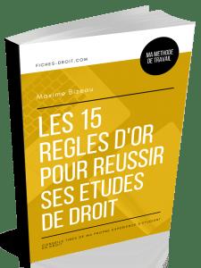 Couverture 3D - Les 15 règles d'or pour réussir ses études de droit