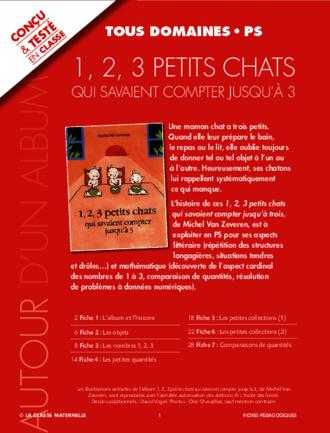 1,2,3 Petits Chats : 1,2,3, petits, chats, Petits, Chats, Savaient, Compter, Jusqu'à, FichesPédagogiques.com