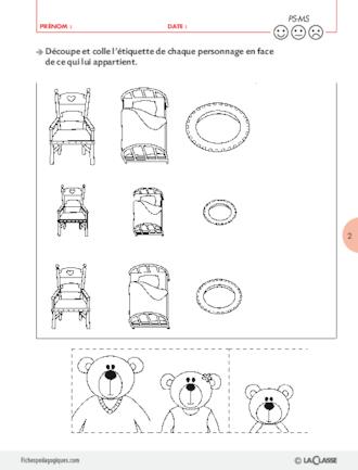 Boucle D'or Et Les Trois Ours Ps : boucle, trois, Boucle, Ours,, Exploitations, Pédagogiques, Maternelle, FichesPédagogiques.com