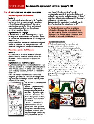 La Chevrette Qui Savait Compter Jusqu'à 10 : chevrette, savait, compter, jusqu'à, Chevrette, Savait, Compter, Jusqu'à, FichesPédagogiques.com