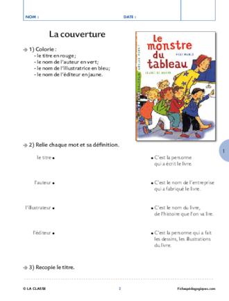 Le Monstre Du Tableau Cp : monstre, tableau, Monstre, Tableau., Lecture, Suivie, FichesPédagogiques.com