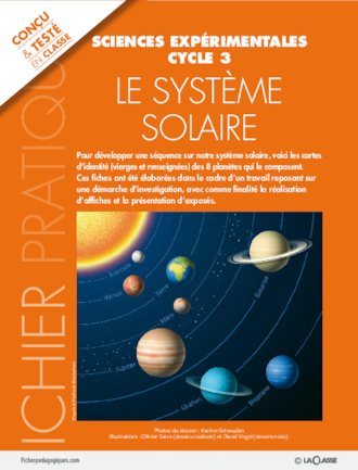 Le Système Solaire Cycle 3 : système, solaire, cycle, Système, Solaire, FichesPédagogiques.com