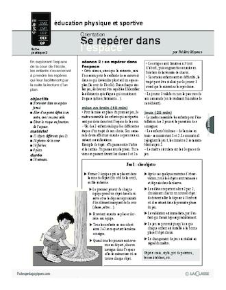 Se Repérer Dans L'espace Ce2 : repérer, l'espace, Orientation, Repérer, L'espace, FichesPédagogiques.com