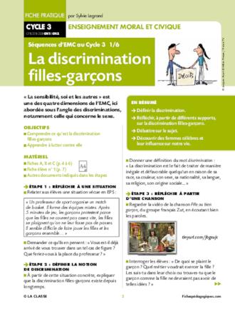 Emc Le Respect Cycle 3 : respect, cycle, Cycle, FichesPédagogiques.com