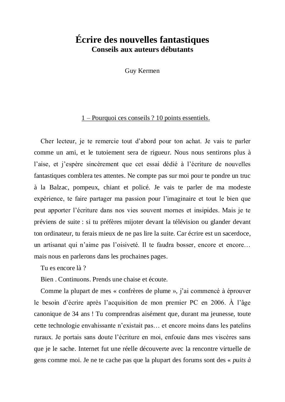 Guy De Maupassant Nouvelles Courtes Pdf : maupassant, nouvelles, courtes, Ecrire, Nouvelles, Fantastiques, Windows, Fichier