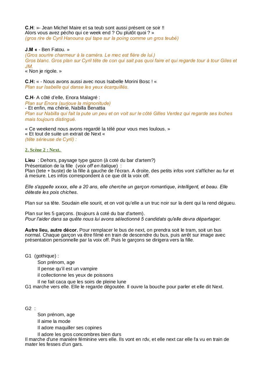Gilles Verdez Et Sa Fille : gilles, verdez, fille, Scénario, Décembre, Fariza, Fichier