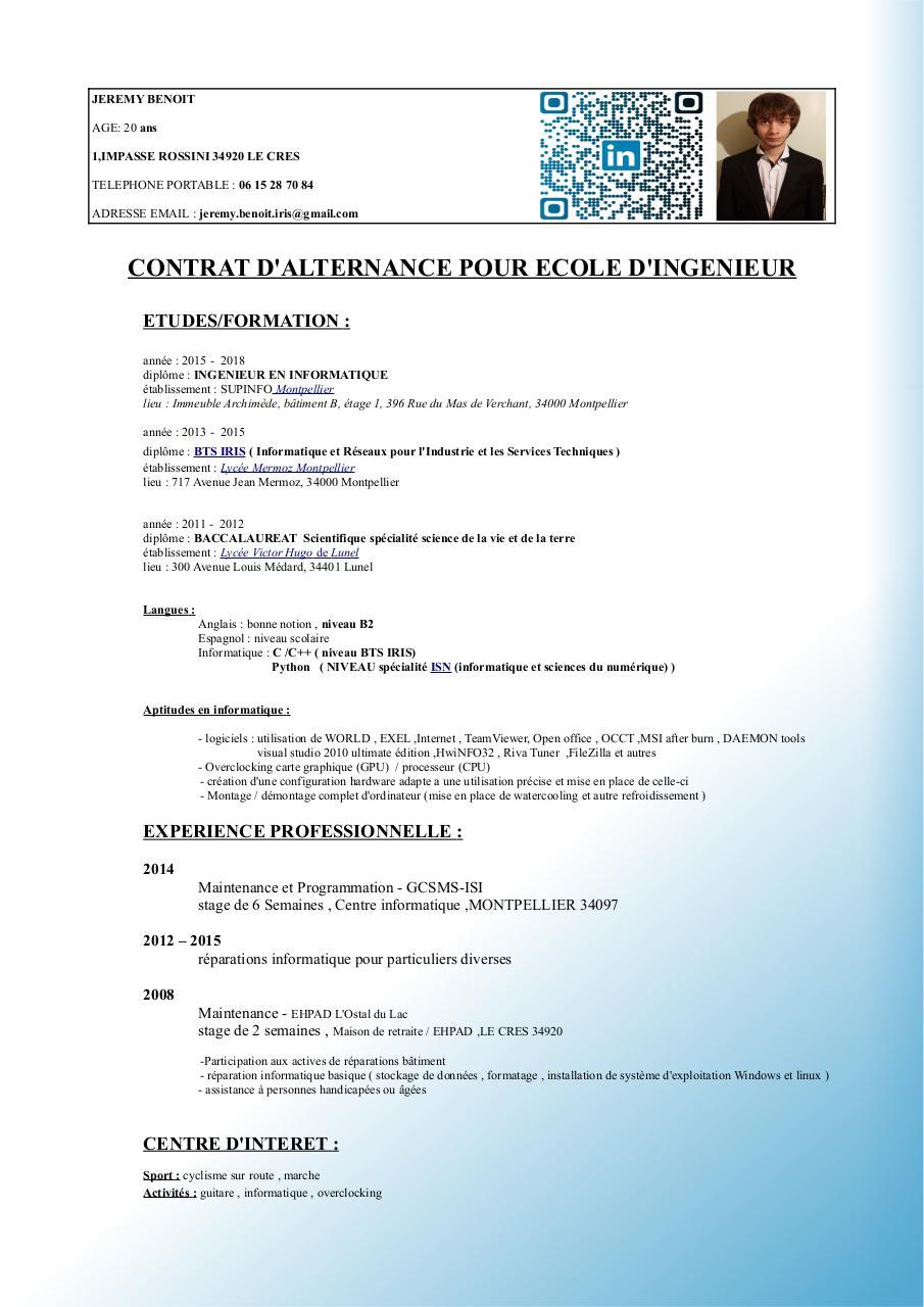 Photo Sur Cv Par Ordinateur All New Resume Examples