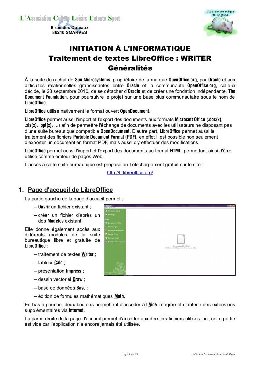 Traitement De Texte Pdf : traitement, texte, Initiation, Traitement, Texte, Fichier