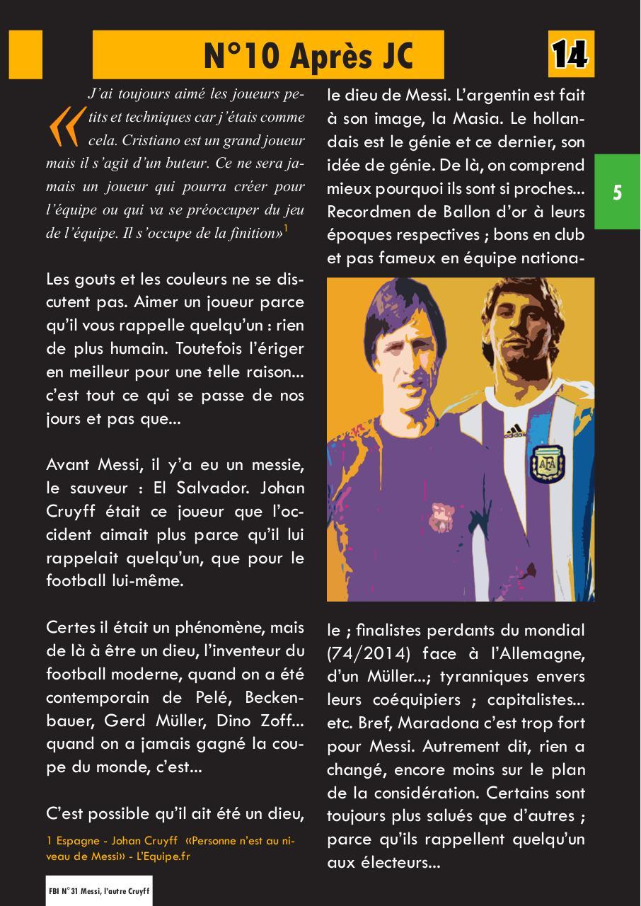 Lorsque J'étais Quelqu'un D'autre Pdf : lorsque, j'étais, quelqu'un, d'autre, N°31, Lionel, Messi,, L'autre, Cruyff, Fichier