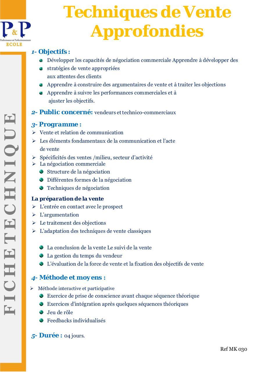 Argumentation Et Traitement Des Objections : argumentation, traitement, objections, Techniques, Vente, Approfondies, Ecole, Fichier