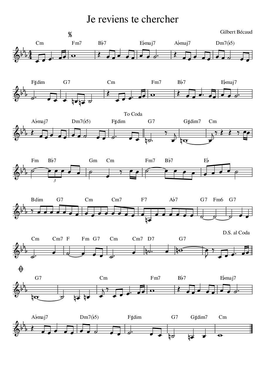 Chanson Je Reviens Te Chercher : chanson, reviens, chercher, Reviens, Chercher, Fichier