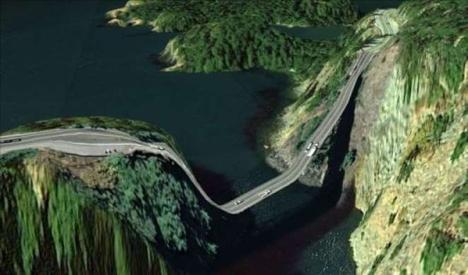A bridge in Island County, Washington