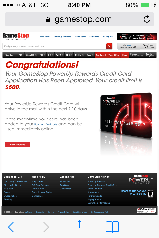 Approved For Gamestop Cc Comenity Myfico Forums