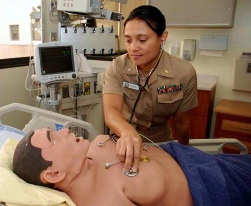 a medical training dummy