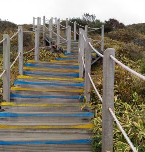 Hiking in Korea, stairclimbing at Crossfit