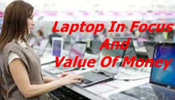 Laptop In Focus And Value Of Money