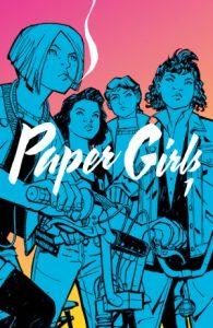 paper girls, paper girls vol 1, paper girls book, paper girls graphic novel, ya graphic novels, ya books, ya magazine, ya book magazine, fictionist