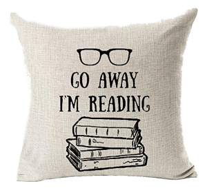 Go Away Reading Pillow