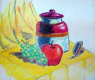 This was actually a school assignment, again in, I think 2008. Done with crayons.