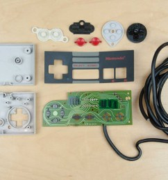 first up the very first nintendo entertainment system nes controller in all its boxy glory it s pretty simple 8 buttons 1 shift register  [ 1400 x 800 Pixel ]