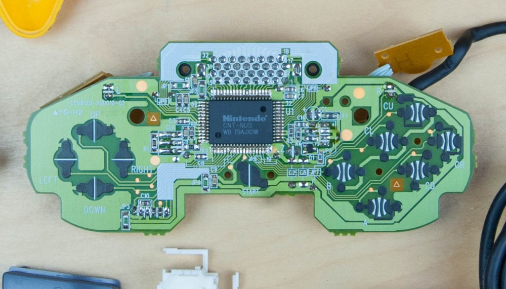 medium resolution of  the pcb we see a lot more complexity compared with the previous controllers this one has a lot more processing power to support a custom nintendo chip