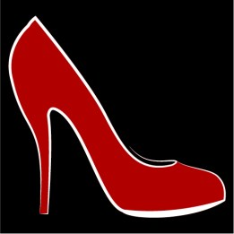 Red shoes | A Real Lady by Claire Lawrence