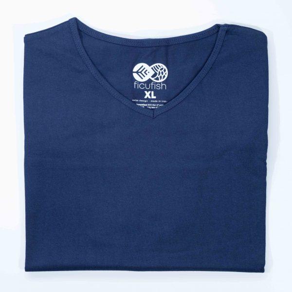 blue unisex dropneck t-shirt