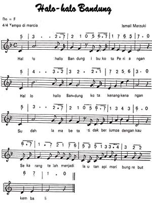 Not lagu wajib nasional Indonesia  Fida Zalfa