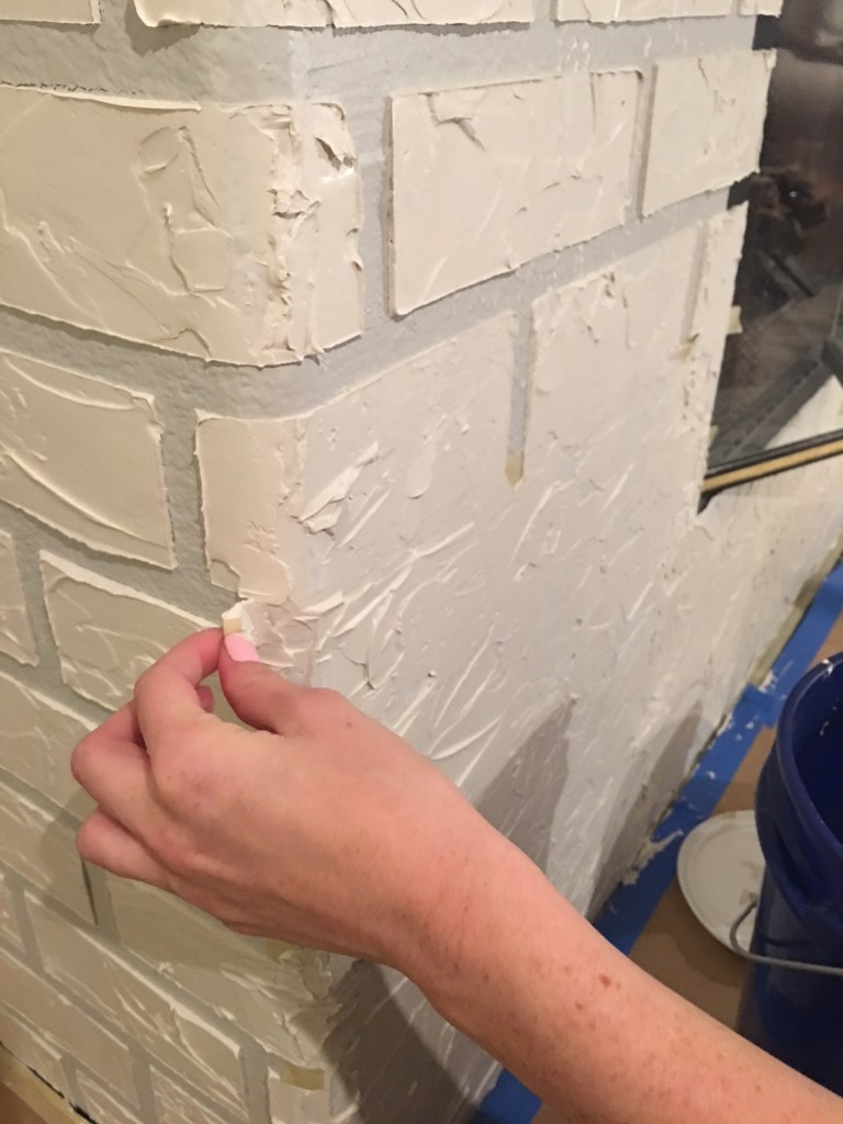 diy faux brick with joint compoun
