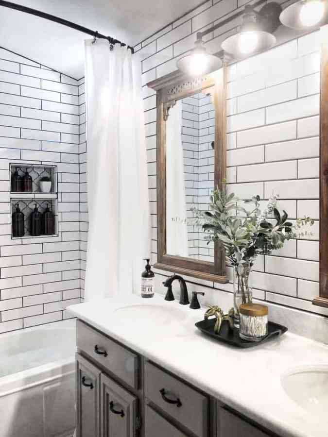 modern farmhouse diy bathroom