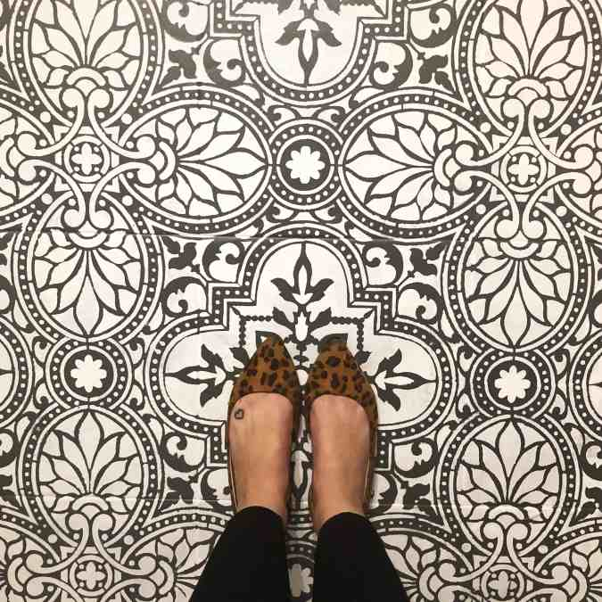 diy stenciled floors