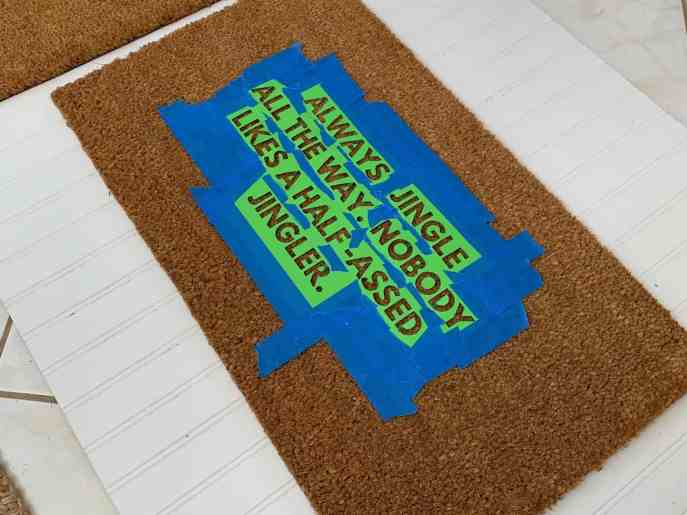 diy holiday coir door mat