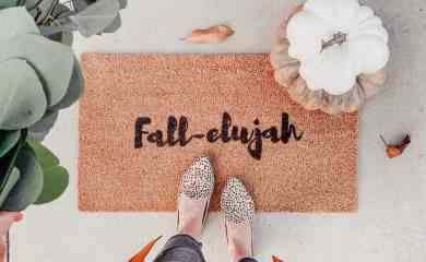 diy fall coir door mat