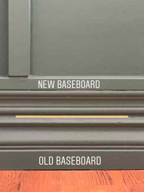 board and batten without removing baseboards