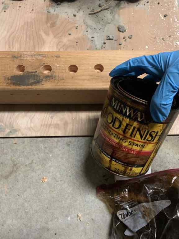 staining with minwax english chestnut